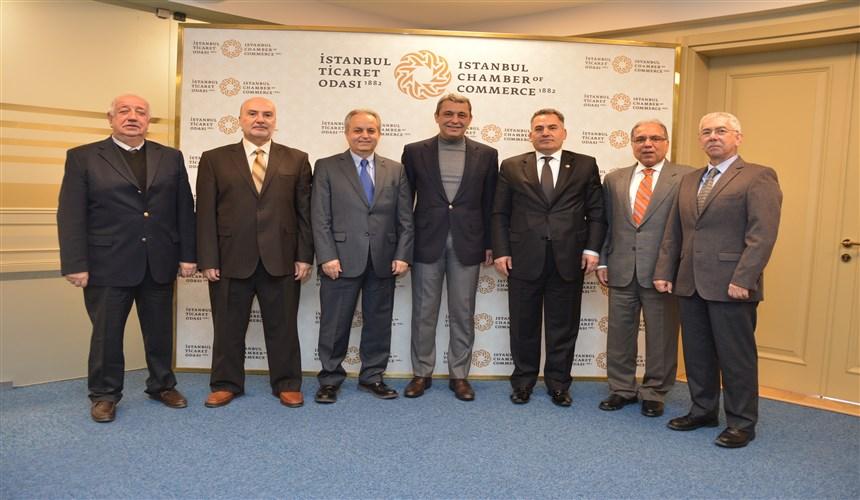 İstanbul Ticaret Odası Başkanı İbrahim Çağlar'ı makamında ziyaret ettik